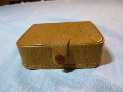 Vintage King  Leather Travel Jewelry Box Made in England