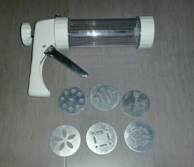 Pampered Chef Cookie Press With 6 Pattern Disks