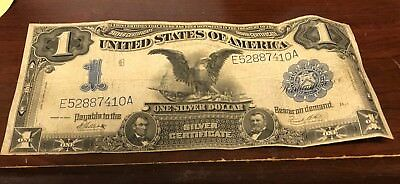 Stunning Embossing $1 Black Eagle Silver Certificate 1899