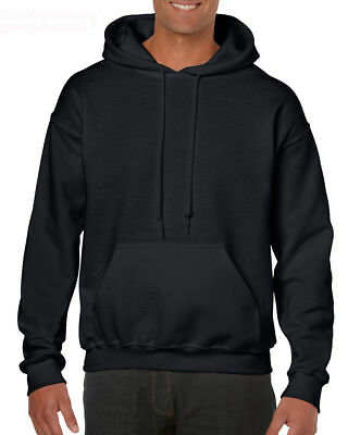 Black Adult Gildan Plain Hooded Heavy Blend Pullover Sweatshirt mens hoodie tops