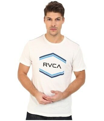 4525c65ccd7aa0 RVCA DOUBLE HEX Vintage T-Shirt White Size XXL New -  10.12