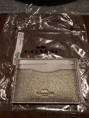 Brand New Coach Leather Credit Card Holder