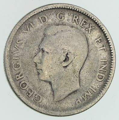 SILVER - 1944 Canada 25 Cents - World Silver Coin 5.6 Grams *391