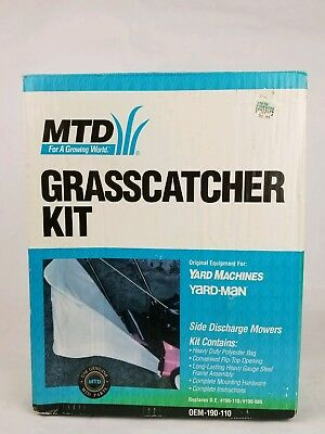 Genuine Factory Parts OEM-190-110 Grass Catcher Kit Side Discharge Mowers  NEW