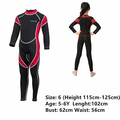 2.5mm Girls Neoprene Long Sleeve Wetsuits Kids Scuba Diving Suits Surfing Guards