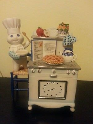 Danbury Mint Time for Pie Limited Edition Pillsbury Doughboy Figurine Clock