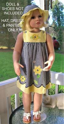 ❤Pieces❤Easter❤Dress, Hat & Panties❤24M*read Ad❤Black-Yellow Seersucker❤Good Lad