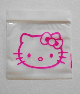 500 (Hello Kitty, Pink Cat) 2x2 Small Ziplock Baggies, 2020 Mini Poly Tiny Bags