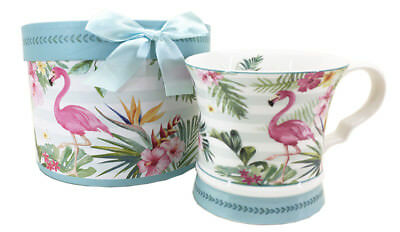 Flamingo Fine China Bird Mug,  Boxed