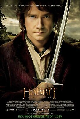 THE HOBBIT MOVIE POSTER ORIGINAL DS 27x40 BILBO FINAL VERSION MINT CONDITION!!