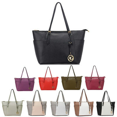 Designer Women's Large Tote Handbag Ladies Fashion Style Shoulder Bags New Look