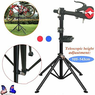 New BIKE REPAIR WORK STAND WITH BONUS TOOL TRAY FOR HOME BICYCLE MECHANIC-