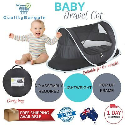 Baby Travel Cot Portable Camping Dome Portacot Foldable Infant Bed Crib Sleeper