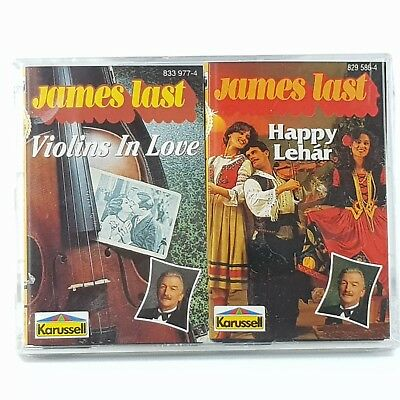 James Last - Violins in Love + Happy Lehar - 2 MC Musikkassetten - NEU   #347