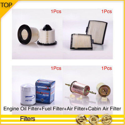 pronto-engine oil/fuel/air/cabin air filter 4pcs for 01-