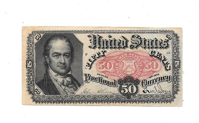 Nice 1875/75 50 Cents 5Th Issue Crawford Fractional Currency