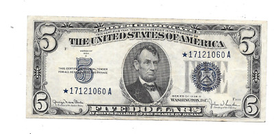 Nice Condition 1934*-D $5 Silver Certificate Star Note