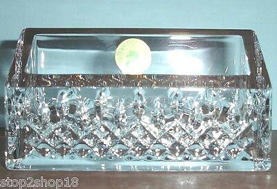 Waterford lismore essence crystal business card holder desk waterford lismore essence crystal business card holder desk collection new colourmoves