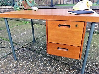 Vintage mid century desk with drawers