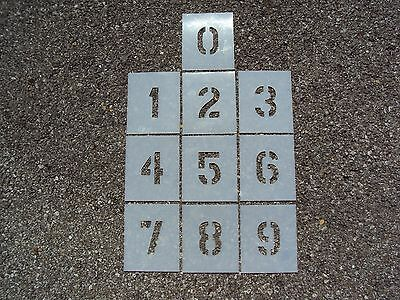 """3"""" x 2"""" Number Stencils for Curb Painting and Parking Lot Striping 60 Mil"""