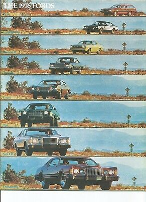 original 1976 Ford full line sales brochure