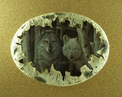 Spirits of the Forest SENTINEL SPIRITS Plate #2 Rusty Frentner Wolf Wolves 3D