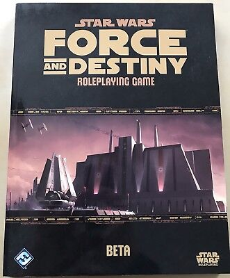 "Star Wars ""Force And Destiny BETA Core Rulebook"" von FFG (Englisch)"