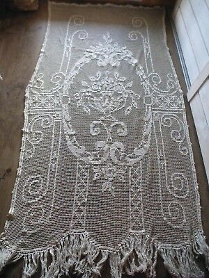 Rideau Portiere Ancien Filet Coton Art Deco Art Nouveau Linge Ancienold Fabric