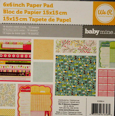We R Memory Keepers Baby Mine 6 x 6 Scrapbook Paper Pad