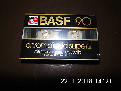 "BASF Chromdioxid Super II 90 CR-S II ""Großes Fenster""- GOLD-Version 1982- 1983"