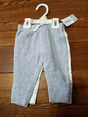 Boys Carter's thermal like pants. Lot of 2. Bears Grey NWT Size 3 months