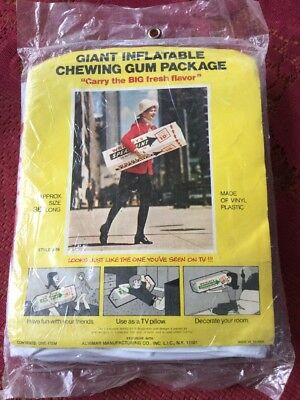 """Vintage Wrigley's Chewing Gum 36"""" Giant Inflatable MCM Never Removed NOS"""
