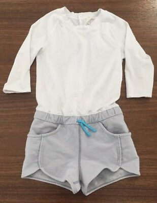 Girls Ivivva Romper Size 8 Grey And White 3/4 Sleeves, *perfect For Spring!*