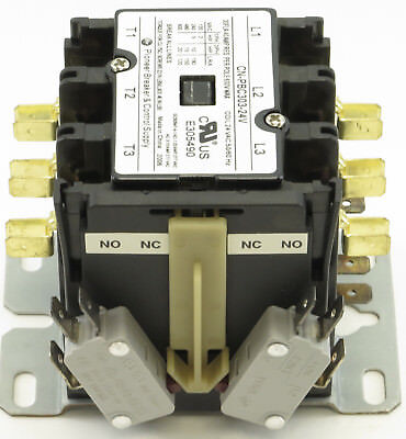 Cn-Pbc303-24V-22 Definite Purpose Contactor 30Amp 3Pole 24V Coil 30/40 Fla Res