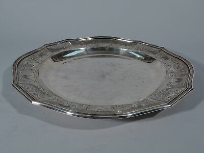 Neoclassical Charger - Antique Platter Tray - European Silver   C 1850