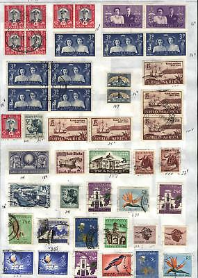 South Africa - 46 stamps mixed - Years 1947 to 1968