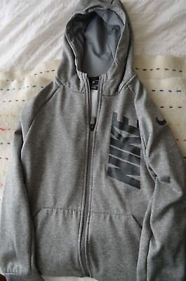 Nike Dri-Fit Hoodie Youth Medium Long Sleeve Grey/Black Pullover Zipper