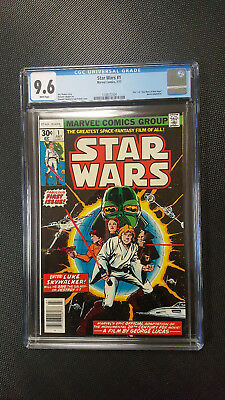 Marvel Comics Star Wars #1 1977 Graded CGC 9.6 WHITE PAGES First Print