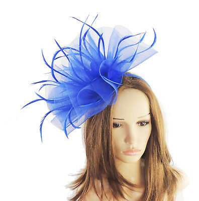 Navy Blue Fascinator Hat For Weddings//Ascot//Proms With Headband M2