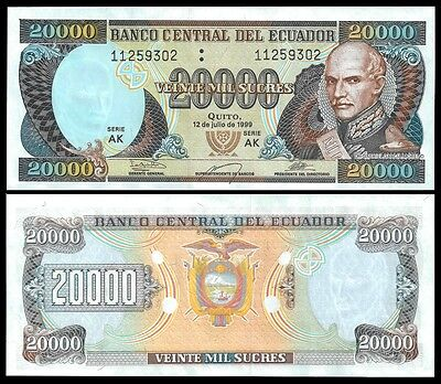 Ecuador 20000 SUCRES 12.7.1999 P 129 UNC OFFER !