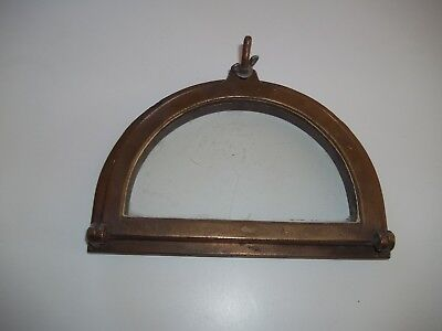 Vintage Half Moon Porthole Nautical Maritime Very Old Rare