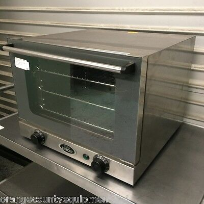 Mini 1/4 Sheet Counter Top Electric Convection Oven 5565 Cadco Unox OV-250 XA006