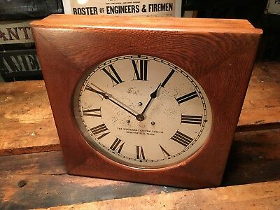 Vintage Mid Century Standard Electric Time Company School Slave Clock