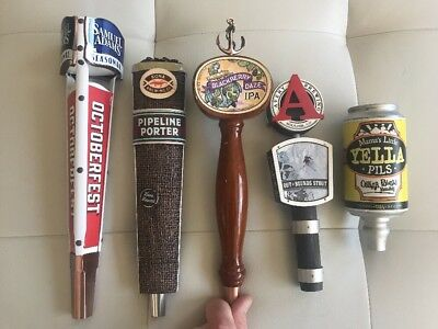 5 Beer Tap Handle Lot - Sam Adams,Kona,Anchor,Avery,Oskar Blues