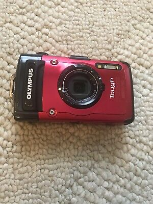 Olympus Stylus TG-2 Tough Waterproof RED Digital Camera with 4x Optical Zoom
