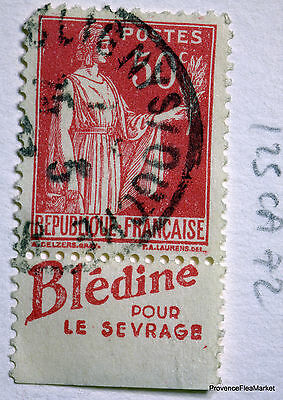 FRANCE STAMP CANCELLED BOOK ADVERTISING PUB ON PEACE 50c Yt 283 125CA72