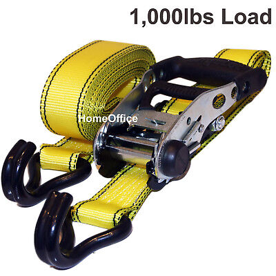 1 x Heavy Duty Ratchet Strap - 1000lbs Load, Tie Downs Lashing Rachet