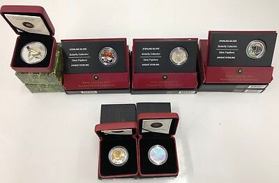 Lot of 10 Canada Butterfly Collection 50-Cent & $20 Silver Proof Coins Canadian