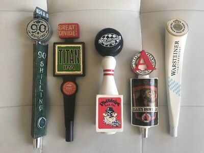 5 Beer Tap Handle Lot - Odell,Great Divide,SKA,Avery,Warsteiner