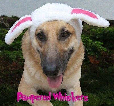 """Dog Sheep Hat_Costume -The Sheepish One costume hat for Large dogs 20-26"""" collar"""
